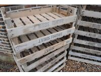 Farm crates from Lincolnshire - vintage shabby chic £8 EACH or £15 for two