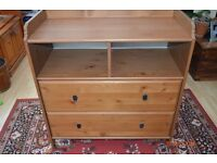 Ikea Leksvik Chest Of Drawers /Baby Changing Top/ changing table