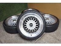 """Genuine Calibre Vintage 18"""" Alloy wheels & Tyres 5x100 VW Golf MK4 Audi A3 Bora Beetle TT Alloys"""