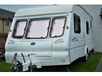 Fantastic 2002 Bailey Ranger 550/6 6 berth caravan with 2 awnings, recently serviced and ready to go