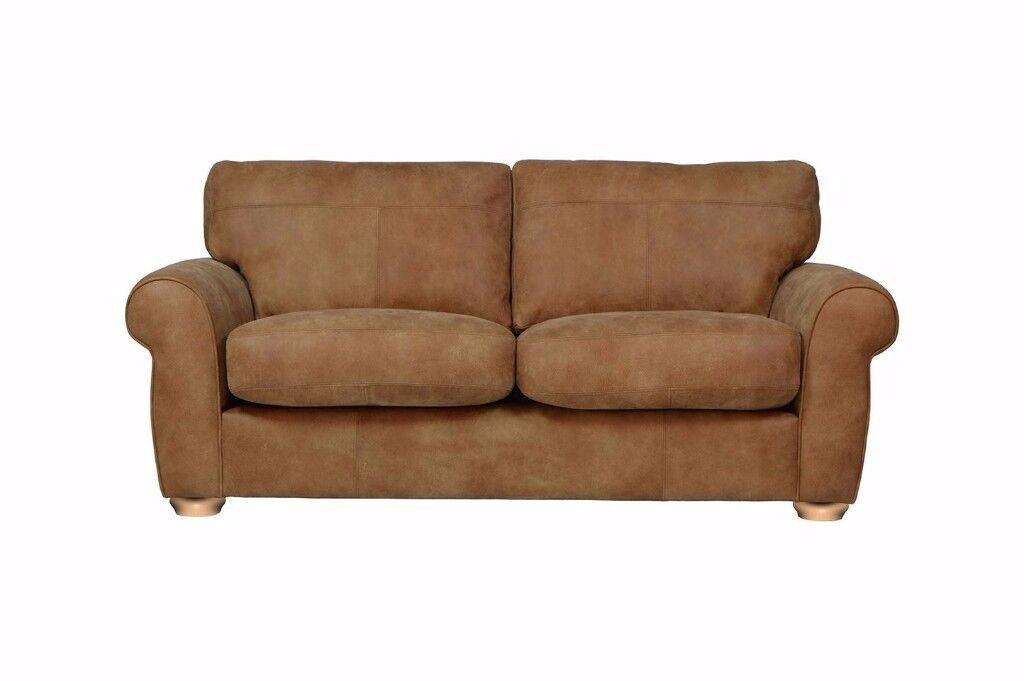 Mariana Medium 3 Seater Sofa - Brown Leather - Super bargain - Top Seller - Must have Designer Sofa