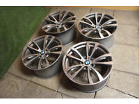 "Genuine BMW X5 M Sport 20"" Alloy wheels 5x120 469M Alloys X6 F15 F16"