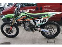 **CHRISTMAS SALE NOW ON**KAWASAKI KX 450 F ROAD REGISTERED 2013 MODEL**£3300**