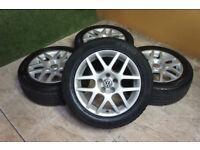 "Genuine VW Golf MK4 16"" Montreal Alloy wheels 5x100 Bora Audi A3 TT Polo Ibiza Fabia"