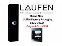 "Brand New & Boxed . Laufen ""Mimo"" . Tall Wall Hung Bathroom Cabinet in Black . Original Cost £834 C"