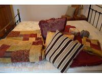 King Bedspread, Curtains, Cushions, Ornaments, Lampshades.