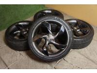 "Genuine Vauxhall Adam 18"" Twister Alloy wheels & Tyres 4x100 Grey & Black Opel"