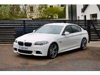 2011 BMW F10 520D M SPORT ALPINE WHITE FBMWSH LOW RATE FINANCE WARRANTY NOT 530D A4 A6 PASSAT 320D