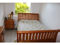 Entire Real Oak Bedroom Furniture, incl King Size bed, dressing table, bedside table and wardrobe