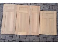 4 SOLID OAK KITCHEN UNIT DOORS