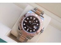 Rolex Yacht Master Rose Gold Chocolate Dial SW2836