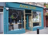 Part-time sales assistant for Stockbridge jewellery shop