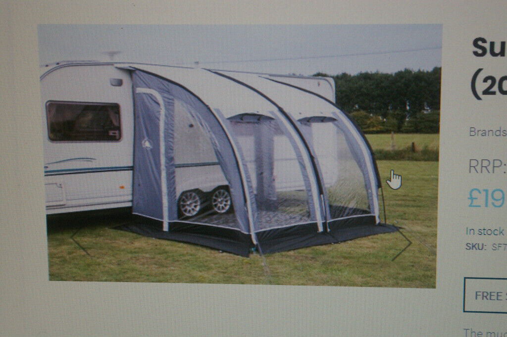 SUNNCAMP ULTIMA 260 CARAVAN PORCH AWNING   in Looe ...