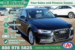 2016 Audi A4 2.0T - Mfg Warranty  AWD NAV Leather