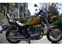 Yamaha Virago XV 750cc. A classic motorbike in immaculate condition.