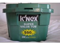 KNEX Super Value tub 550 pieces - barely used