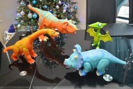 Interactive Dinosaurs Tyrannosaurus Ultimate T-Rex, Tiny Pteranodon,Tank Triceratops,