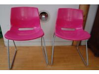 Chairs - Two lovely Pink Ikea chairs