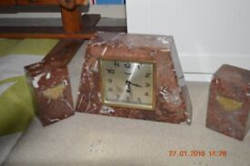 Art Deco French clock garniture Perfect working order