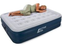 Active Era Premium King Size Air Bed with a Built-in Electric Pump and Pillow Blow-up Bed