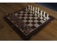 Traditional Staunton Style Chess Set and Board in Sheesham Wood (also known as Golden Rosewood)