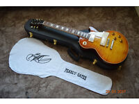 "2009, Gibson Custom Shop, Billy Gibbons ""Pearly Gates"" V.O.S. finish Les Paul electric guitar"