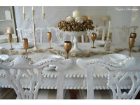 !!! WOW !!! CHRISTMAS DEAL !!! *** CHRISTMAS SALE *** Shabby Chic Antique Dining Table & 10 Chairs !