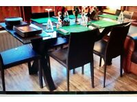 Lovely modern glass dining table (Next) £70 CHAIRS NOT INCLUDED