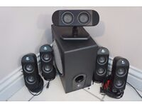 Logitech X-530 - Surround Sound - 5.1 - Fantastic Sounding Speakers In Great Condition