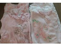 4 x Baby Girl sleepsuits, 6-9 months