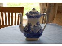 Spode Blue Italian Coffee Pot