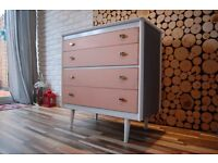 SIDEBOARD ,DRAWERS, TV UNIT, SHABBY CHIC,Annie Sloan , VINTAGE,free delivery Glasgow
