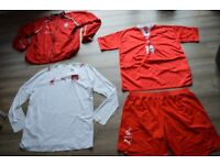 Polish National Football Team T-shirts, shorts and light jacket.
