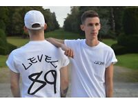 LVLEN TSHIRTS AVAILABLE IN BLACK AND WHITE.
