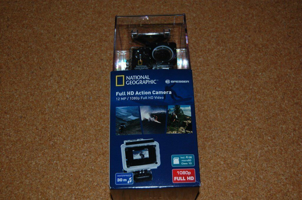 New 1080p HD / 12mp Sports Action Camera - National Geographic / Bresser