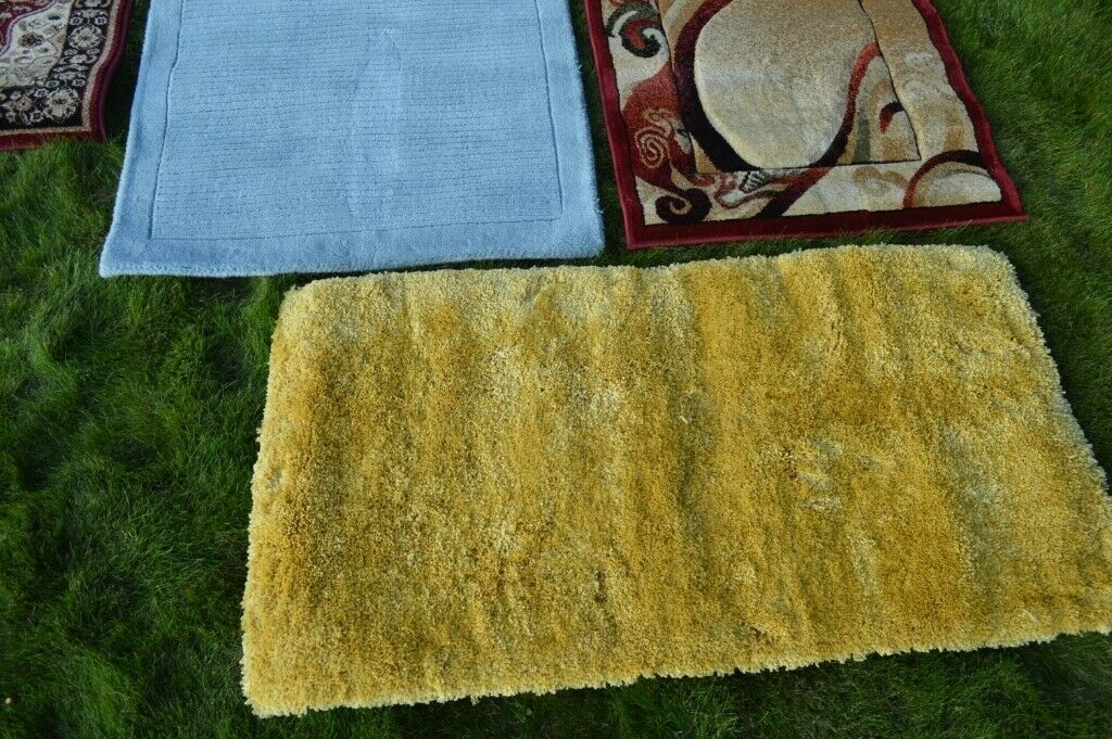 Oriental Weavers Yellow Fluffy Long Pile Rug New
