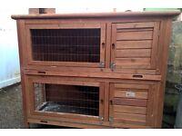 Two storey rabbit/guinea pig hutch