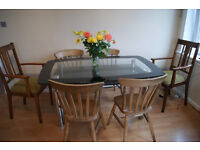 Glass &/or Wooden Dining Table & Chairs