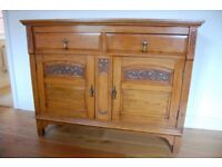 Stunning solid oak arts and crafts sideboard