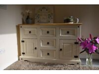 Hand painted Mexican pine sideboard