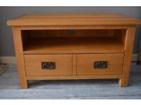Rustic Solid Oak Tv Stand / Unit with drawer