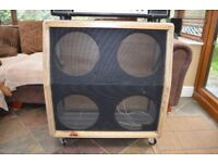 Empty angled 4 x 12 speaker cab (made by Crate) - high grade marine plywood