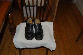 Dr Marten black slip on loafers size 6