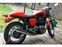 Triumph Thruxton Bonneville 900 efi New Tyres, Red, Clip Ons