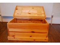 Pine Mini Blanket Box/Chest - hand-made locally