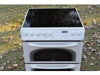Creda Electric Cooker - Double Oven - Ceramic Hob - 60' Wide - Immaculate.