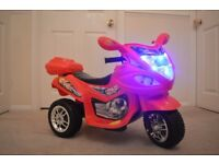 Kids Electric Bike Childs Ride On Battery Buggy Boys Motorbike New RED