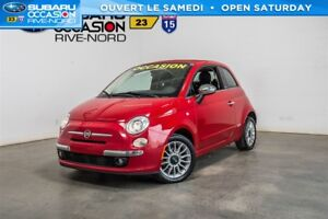 Fiat 500c lounge cuir+mags+bluetooth 2012