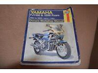 Haynes Manual for Yamaha FJ1100-1200