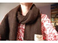 Scarf hand woven in Scotland from organic wool